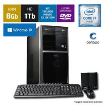 Computador Intel Core i7 8GB HD 1TB DVD com Windows 10 SL Certo PC Desempenho 911