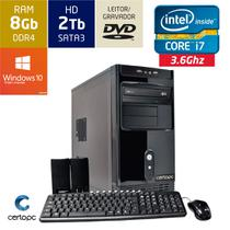Computador Intel Core i7 8GB HD 2TB DVD com Windows 10 SL Certo PC Desempenho 914