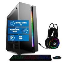 Computador Intel Core i7 8GB HD 3TB Mouse teclado mousepad Quantum Premium -