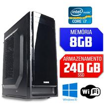 Computador Intel Core i7, 8GB Ram, SSD 240, Windows 10 - Alfatec
