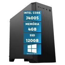 Computador Intel Dual Core J4005 com Windows 10 Professional 4GB SSD 120GB Skill MSW -