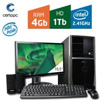 Computador + Monitor 19,5'' Intel Dual Core 2.41GHz 4GB HD 1TB Certo PC FIT 043 -