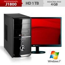 Computador Neologic Dual Core J1800, 1TB, 4GB Ram, Windows 7 + Monitor 18,5 NLI48290