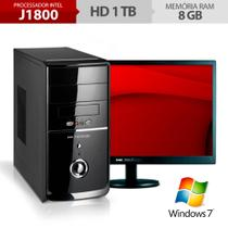Computador Neologic Dual Core J1800, 1Tb, 8Gb Ram, Windows 7 + Monitor 18,5 Nli48287