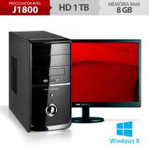Computador Neologic Dual Core J1800, 1TB, 8GB RAM, Windows 8 + Monitor 18,5 NLI48288