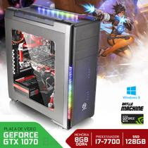 Computador Neologic Gamer Battle Machine I7-7700 7º Geração 8GB 1TB SSD 120GB  GTX1070  Win 8 NLI68213