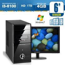 Computador Neologic i3-6100 3.7Ghz. 1TB, 4GB RAM, Windows 7 + Monitor 18,5 NLI56954