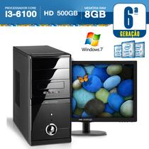 Computador Neologic i3-6100 3.7Ghz. HD 500GB. 8GB RAM, Windows 7 + Monitor 18,5 NLI56950