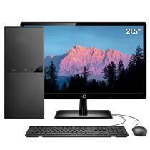 """Computador PC Completo Intel 10ª Geração Monitor LED 21.5"""" 8GB SSD 120GB HDMI 4K Áudio 5.1 canais Skill DC -"""
