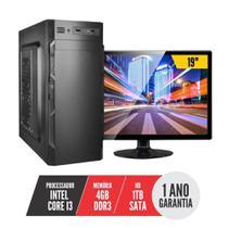 Computador PC CPU Completo Intel Core i3 4Gb 1Tb Monitor 19 LED HDMI BestPC -