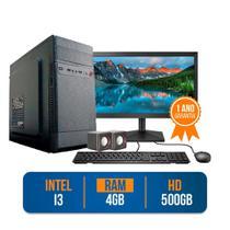 Computador PC CPU Completo Intel Core i3 4GB 500GB Monitor 19 LED HDMI Kit Windows 10 - Prontu PC