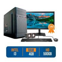 Computador PC CPU Completo Intel Core i3 4GB 500GB Windows 10 Monitor 19 LED HDMI Kit - Prontu