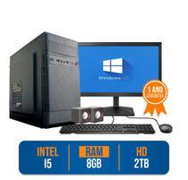 Computador PC CPU Completo Intel Core i5 8Gb 2Tb Windows 10 Monitor 19 Kit - Prontu PC