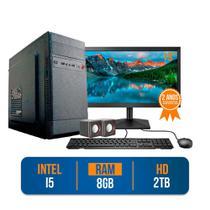 "Computador PC CPU Completo Intel Core i5 8Gb 2Tb  Windows 10 Monitor 19"" LED HDMI Kit - Prontu"