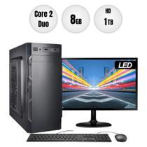 "Computador PC CPU Intel Core 2 Duo 8GB 1TB Monitor 19"" Kit BestPC -"