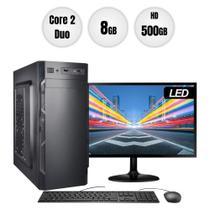 "Computador PC CPU Intel Core 2 Duo 8GB 500GB Monitor 19"" Kit BestPC -"