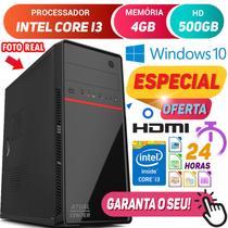 Computador Pc Cpu Intel Core i3 Turbo 4GB HD 500GB Hdmi Windows 10 Desktop - Strong Tech