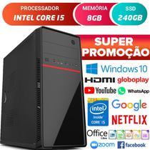 Computador Pc Cpu Intel Core i5 Com Hdmi 8GB SSD 240GB Windows 10 Desktop - Strong Tech