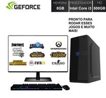 Computador PC Gamer Completo Barato Monitor LED HDMI Intel Core i3 (Geforce GT 2GB) 8GB HD 500GB EasyPC Playing