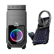 Computador PC Gamer Neologic NLI82336 AMD Ryzen 3 (Placa de vídeo Radeon VEGA 8) 8GB DDR4, SSD 120GB 400W 80 PLUS + Kit Gamer -