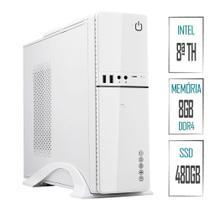 Computador PC Intel 8ª Geração 8GB DDR4 SSD 480GB (Placa de vídeo Intel UHD 610) HDMI Full HD Skill SlimPC - Skill Gaming