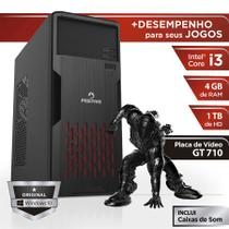 Computador Positivo Station i3 41TBg Core i3 4GB 1TB GeForce GT 710 Windows 10 Home - Preto -