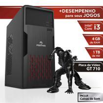Computador Positivo Station i3 41TBgi Core i3 4GB 1TB GeForce GT 710 Linux - Preto -