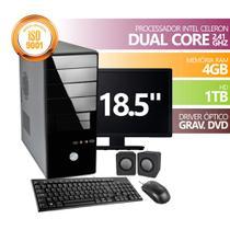 Computador Premium Celeron DC2500 4gb 1tb Dvd Mon18.5 Kit - Toshiba