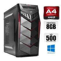 Computador Quad Core AMD 5100, 8GB Ram, HD 500TB, Windows 10 - Alfatec