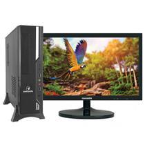 Computador Sff Concórdia Completo Com Monitor 19,5''  Processador Intel Dual Core Memória 4Gb Ddr3 Ssd 240Gb -