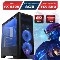 Computador Six Core Gamer, AMD FX 6300, 8GB Ram, Radeon 4GB, HD 1TB - Alfatec