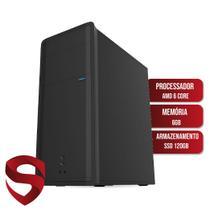 Computador Skill Join AMD 6-Core 3.8Ghz 6GB (Placa de vídeo Radeon R5) SSD 120GB HDMI Full HD Áudio 5.1 canais PC CPU -