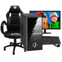 Computador Smart PC SMT81798 Intel Core i5 8GB 1TB Monitor 19,5 com Cadeira -