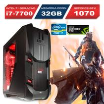 Computador Top Gamer Intel Core i7 7700, 32GB Ram, SSD, GTX 1070 8GB - Alfatec