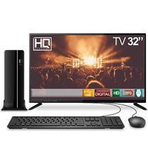 "Computador TV 32"" PC Intel Core i3 4GB 500GB HDMI Áudio EasyPC Play -"