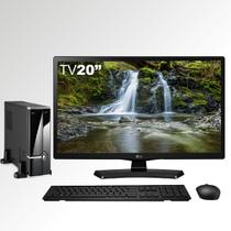 Computador TVPC com TV Monitor LED LG 20MT49DF-PS Intel Dual Core 4GB 1TB Wifi EasyPC