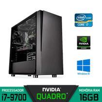 Computador Workstation Gráfico Intel Core i7-9700 RAM 16GB SSD 240GB + HD 2TB Nvidia QUADRO - Alfatec