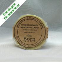 Condicionador em barra Natural e Vegano - Manteiga de Cacau - Cabelos Secos - Born Saboaria -
