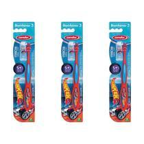 Condor Hot Wheels Escova C/ Protetor 5 Ano (Kit C/03) -