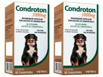 Condroton 1000mg 60 Comprimidos - Vetnil - 2 Unidades -