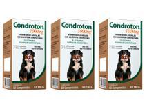 Condroton 1000mg 60 Comprimidos - Vetnil - 3 Unidades -