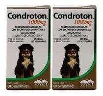 Condroton 1000mg 60 Comprimidos Vetnil Kit 2 Unid -
