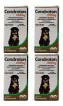 Condroton 1000mg 60 Comprimidos Vetnil Kit 4 Unid -