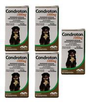Condroton 1000mg 60 Comprimidos Vetnil Kit 5 Unid -