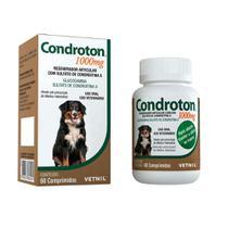 Condroton 1000mg Regenerador Vetnil - 60 comprimidos -