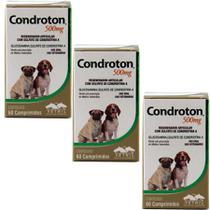 Condroton 500mg 60 comprimidos KIT 3 unid Vetnil -
