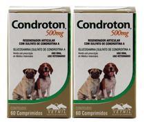 Condroton 500mg 60 Comprimidos Vetnil Kit 2 Unid -