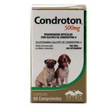 Condroton 500mg 60 comprimidos Vetnil Suplemento Cães Gatos -