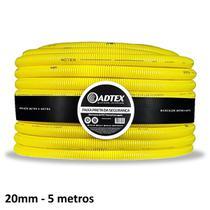 Conduite Adtex 20mm 1/2 Antichama 5m Corrugado Eletroduto -