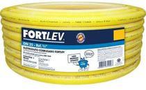 Conduíte Corrugado 3/4 Pol. (25mm) Rolo 10 Mts Fortlev Amarelo -